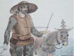 Detalle del Arriero y Mula